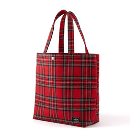 "HEAD PORTER - ""LESSON"" SHOPPING BAG (L) RED"