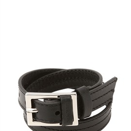 Dior Homme - Black Double Wrap Leather Bracelet