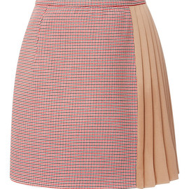 Carven - Pre-Fall 2015 A-Line Mini Skirt With Pleated Crepe Panel