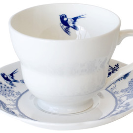 Louise Wilkinson - Trees White Cup & Saucer