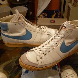 "NIKE - 「<used>'80's NIKE FRANCHISE HI white/lightblue""made in JAPAN"" size:27cm 28000yen」完売"