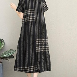 Blue Stripe dress, Woman Long Sleeve dress, Loose dress, Women's Dresses, Shirt dress