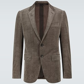 Ermenegildo Zegna - Corduroy single-breasted blazer,item no. P00480247