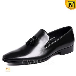 CWMALLS - CWMALLS® Mens Tassel Leather Dress Loafers CW716216