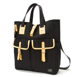 "HEAD PORTER - ""LX"" TOTE BAG BLACK"