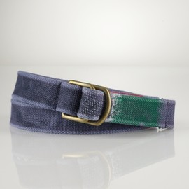 POLO RALPH LAUREN - D-Ring Striped-Tip Web Belt