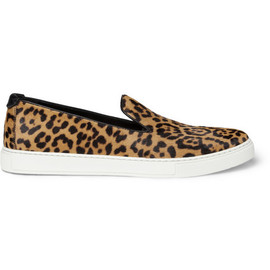 Yves Saint Laurent  - Leopard-Print Calf Hair Sneakers