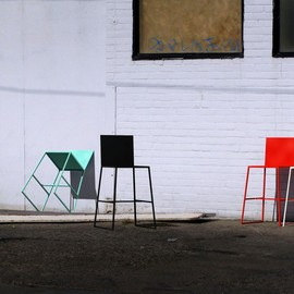 commute home - Powder-Coated steel Stools