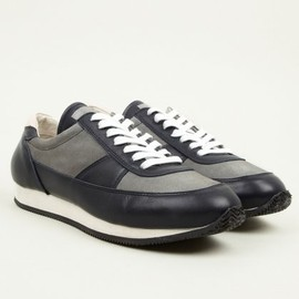 Our Legacy - Men's Navy and Grey Runner II Sneakers