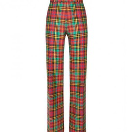 ETRO - PAISLEY HIPSTER CHECK TROUSERS