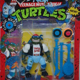 Classic Rocker Leo Playmates TMNT Ninja Turtles figure