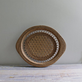 Vintage Woven Tray