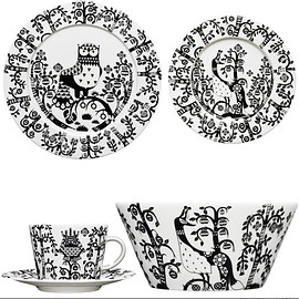 iittala - Iittala Taika 5 pc. Set in Black and White eclectic-dinner-plates