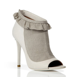 LAURENCE DACADE - Ivory Bi-Fabric Booties