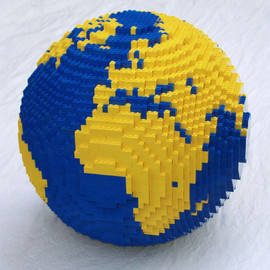 Flaming Pear - Lego™ globe designed with Flexify