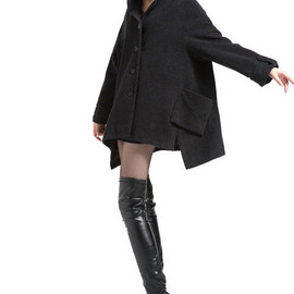 etsy - Wool overcoat cape cloak wool coat