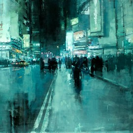 Jeremy Mann - CITYSCAPES / 7th Ave. Night