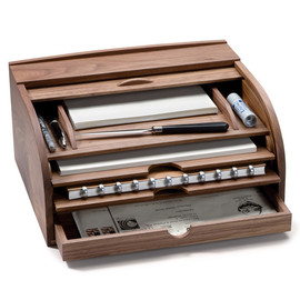 Walnut Letter Box and Document Desk Case | New Products