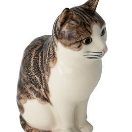 Quail - Edith The Cat Money Box