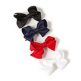RIBBON BOW HAIR PINS
