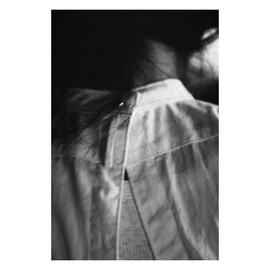 FUMIKA_UCHIDA - back open dress shirts  with gold and Silver stud button