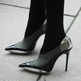 Balenciaga - Rubber metallic stilletos