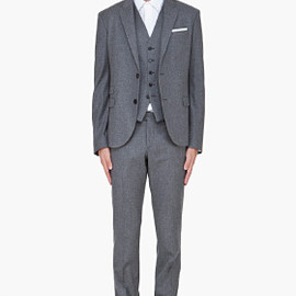 NEIL BARRETT - Grey Wool Three Piece Suit