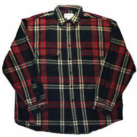 Eddie Bauer - Vintage 1990s 90s Eddie Bauer Rustic Plaid Workwear Shirt Mens Clothing Size XL