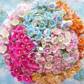 Lovely Vintage Style Forget Me Not Bouquets