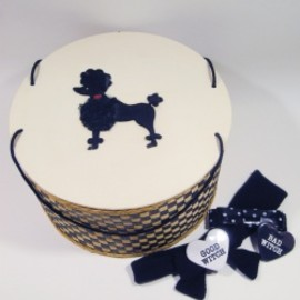 "Princess - 1950's Princess ""BLACK POODLE"" Wicker Sewing Basket"