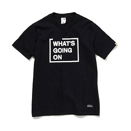 HEAD PORTER PLUS, FRUIT OF THE LOOM - WHATS GOING ON TEE BLACK