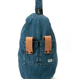White Mountaineering×PORTER - 12SS USED DENIM ARMY BAG