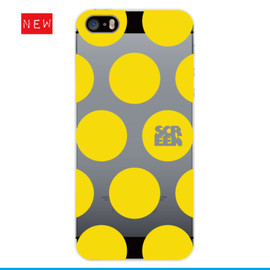 SCREEN - iPhone5, 5s用ケース DOTsイエロー