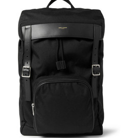 Saint Laurent - Saint Laurent Leather-Trimmed Canvas Backpack
