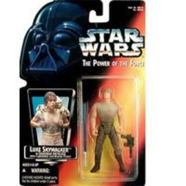 kenner - STAR WARS Power of the Force Luke Skywalker In Dagobah Fatigues with Long Saber Action Figure by Kenner