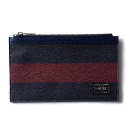 "HEAD PORTER - ""OXFORD"" POUCH BURGUNDY"