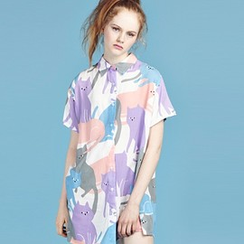 Lazy Oaf - Lazy Oaf Cat Cluster Shirt