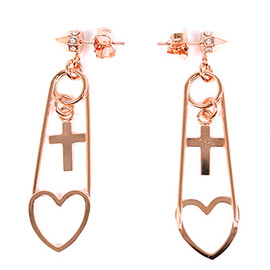 Sister - 【Maria Francesca Pepe】PAIR OF EARRINGS WITH HEART PENDANTS