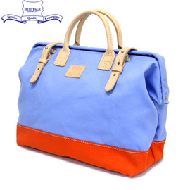 Heritage Leather - Mason Bag L.Blue/Orange