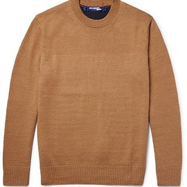 Junya Watanabe - Two-Tone Cashmere and Linen-Blend Sweater