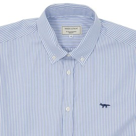 KITSUNE - Blue Classic Stripe Oxford Shirt