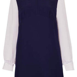 TOPSHOP - Chiffon High Neck Shift Dress