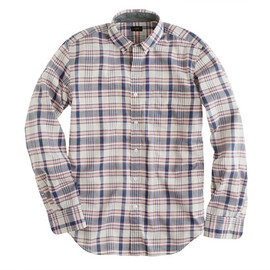 J.CREW - INDIAN COTTON SHIRT IN RED FADED TWILIGHT PLAID