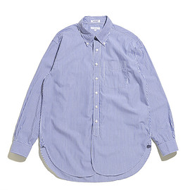 ENGINEERED GARMENTS - 19 Century BD Shirt-Medium Stripe Broad-Blue×White