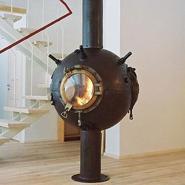 Mati Karmin - Russian artist Mati Karmin takes old Soviet deep-sea mines and turns them into amazing steampunk furniture