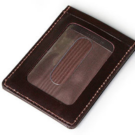Whitehouse Cox - SINGLE TRAIN PASS CASE (HABANA)