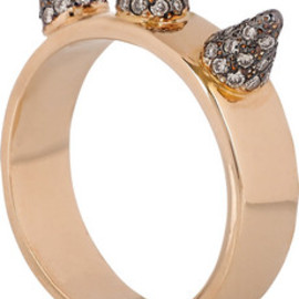 Ileana Makri - Triple Spike 18-karat rose gold diamond ring