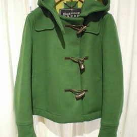 harnold brook - short duffle coat green