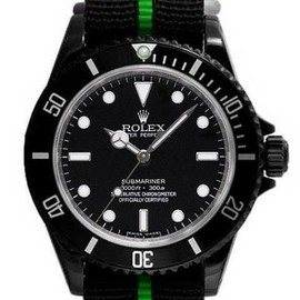 ROLEX, Time and Gems - SUBMARINER W/GRN LINE BELT '11