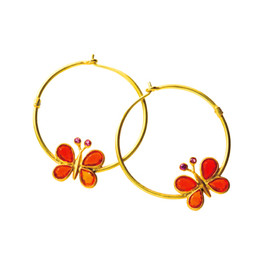 Marie-Hélène de Taillac - butterfly hoop earrings